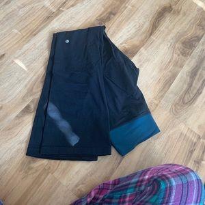 Lululemon slim flares crossed waistband